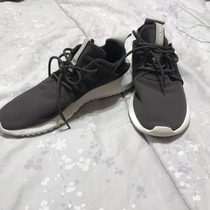 Space grey adidas shoes